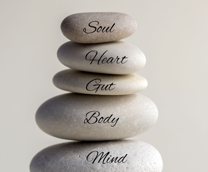 5 pillars on zen stones