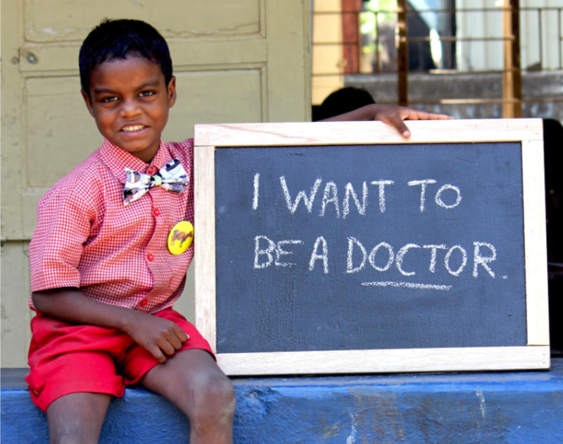 Help boy who wants to be doctor