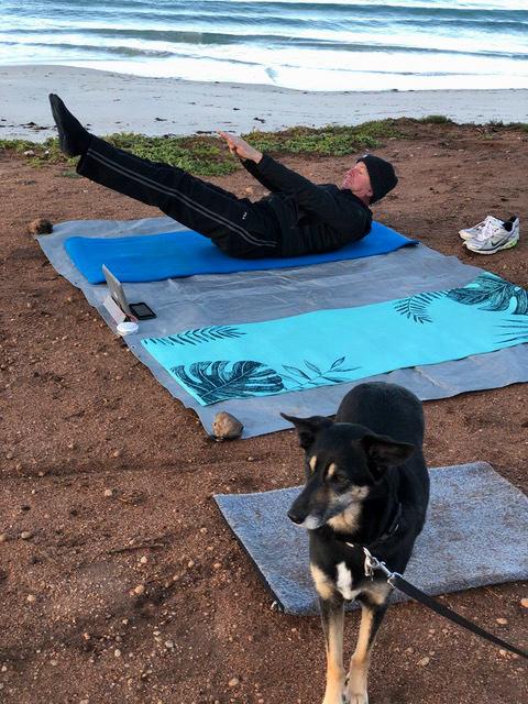 Pete doing Radical Wellness class