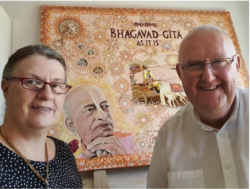 Bhakta Das Albert Lange and wife