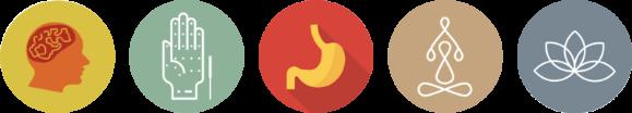 5 pillar icons